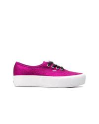 Tenis de cuero rosa de Vans