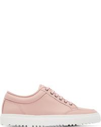 Tenis de cuero rosados