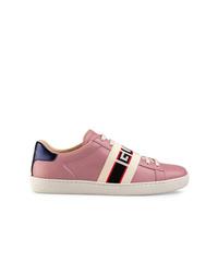 Tenis de cuero rosados de Gucci