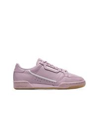 Tenis de cuero violeta claro de adidas