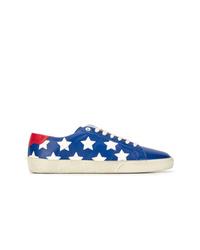 Tenis de estrellas azules de Saint Laurent