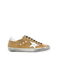 Tenis de lona con adornos marrón claro de Golden Goose Deluxe Brand