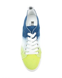 Tenis de lona en multicolor de MSGM