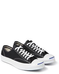 Tenis de lona en negro y blanco de Converse