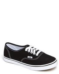 Tenis de lona en negro y blanco de Vans