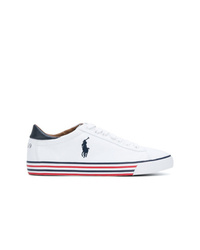 Tenis de lona estampados blancos de Polo Ralph Lauren