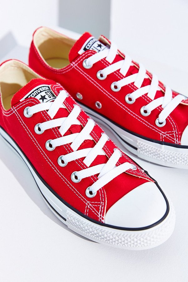 converse all star plataforma rojas