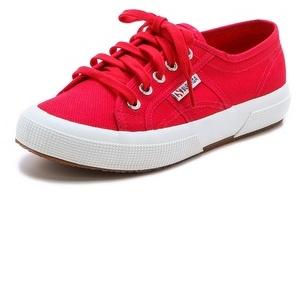 Zapatos rojos SUPERGA Classic para mujer V0BuKUA