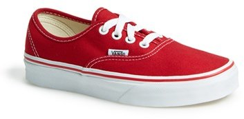 Zapatos rojos Vans Authentic infantiles ASmor