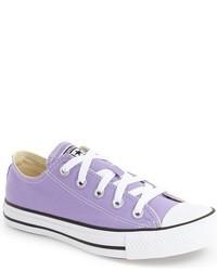 Tenis de lona violeta claro de Converse
