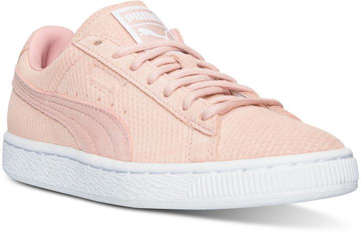 tenis puma suede rosa