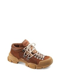 Gucci Leather Original Gg Trekking Boot
