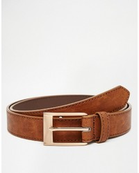 Asos Brand Smart Belt With Rose Gold Buckle