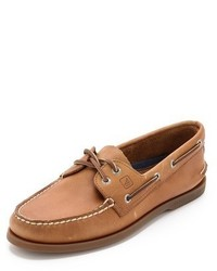 Sperry Ao Classic Boat Shoes On Brown Sole