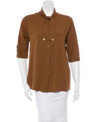 Tie accented crepe blouse medium 717311
