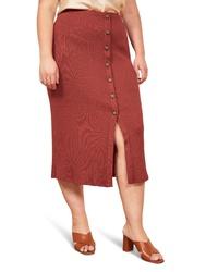 Reformation Rosie Ribbed Midi Skirt