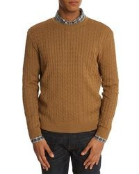 Tobacco Cable Sweater