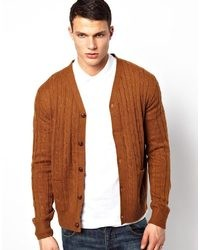 Menlook Label Classic Round Neck Camel Cable Knit Sweater | Where ...