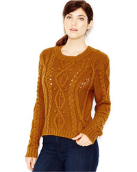 Rachel cable knit pullover sweater medium 374787