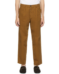 Ps By Paul Smith Brown Pleated Trousers