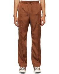 The Conspires Brown Satin Cs Ut Trousers