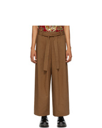Naked and Famous Denim Brown Wide Trousers