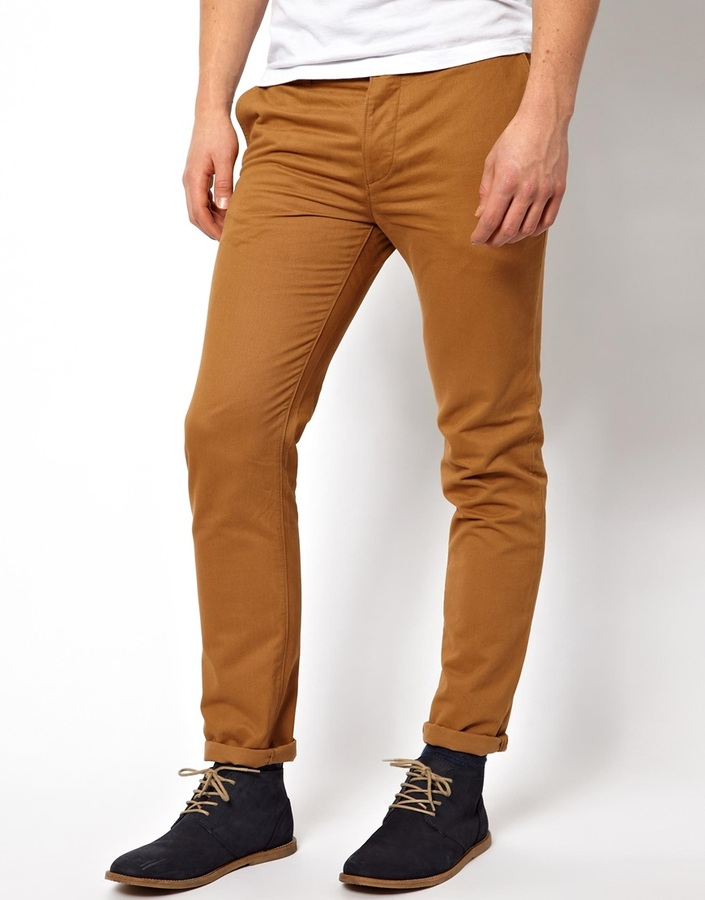 ... Asos Slim Chinos Tan