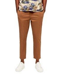 Topman Whyatt Skinny Fit Crop Drawstring Pants
