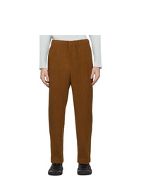 Homme Plissé Issey Miyake Yellow Heather Pleats Trousers