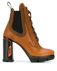 Prada Heeled Lace Up Ankle Boots