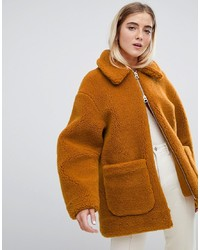 Weekday Borg Teddy Coat