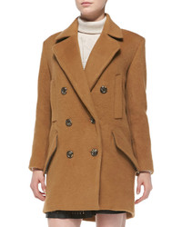 Joie Delsa Double Breasted Felt Coat