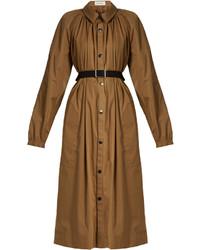 Gathered neck cotton blend coat medium 3710226