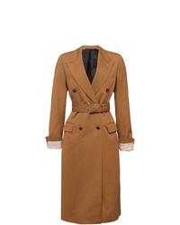 Prada Poplin Double Breasted Coat