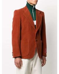 Gucci Corduroy Label Cuff Blazer