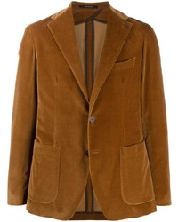 Tagliatore Long Sleeved Buttoned Up Blazer