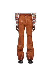 Marni Brown Waxed Corduroy Trousers