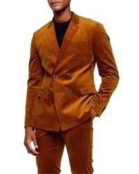 Topman A List Corduroy Skinny Fit Suit Jacket