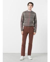 Mango Man Slim Fit 5 Pocket Corduroy Trousers