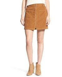 Zip front corduroy miniskirt medium 801708