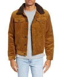 Brixton Cable Corduroy Trucker Jacket With Faux