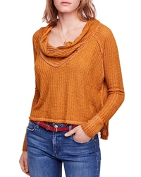Tobacco Cowl-neck Sweater