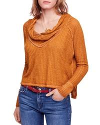 Tobacco Cowl-neck Sweater
