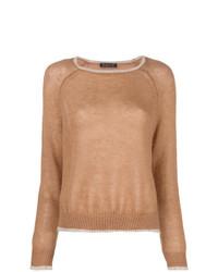 Phisique Du Role Contrast Trim Sweater