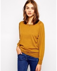 Sessun Fortunato Knitted Sweater With Buttons Tobacco Brown