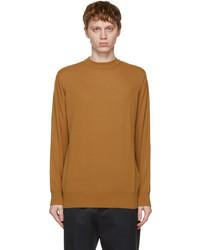President'S Tan Cotton Crepe Sweater