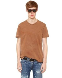 Cycle Faded Distressed Cotton T Shirt