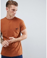 New Look T Shirt With Seattle Embroidery In Brown