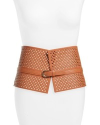 Amici Accessories Faux Leather Wide Cutout Belt