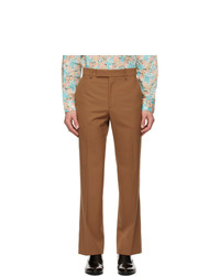 Gucci Brown Wool Straight Pants